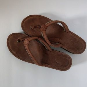 Sperry Top-sider Flip flops brown leather 9m